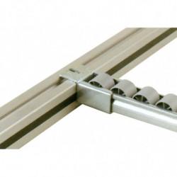 Porte-rail sur profilé aluminium