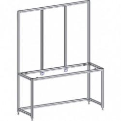 Poste de travail ergonomique hauteur fixe - Structure AL triple cadre M500