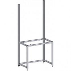 Poste de travail ergonomique hauteur fixe - Structure AL avec cadre en profilés alu
