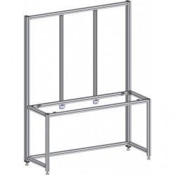 Poste de travail ergonomique hauteur fixe - Structure AL triple cadre