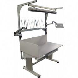Poste de travail ergonomique ajustable en hauteur - Structure motorisée avec cadre frontal