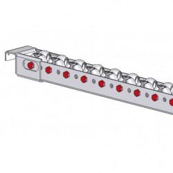 Porte-rail à galets omnidirectionnels