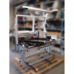 Poste de travail ergonomique ajustable en hauteur - Structure motorisée double cadre