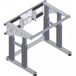 Table de travail électrique ajustable en hauteur charge 350 kg sans cadre profilés aluminium