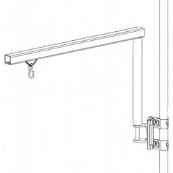 Potence articulée pour support outil  avec fixation sur tube Ø 28 mm