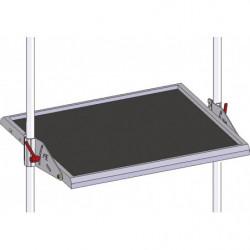 Tablette réglable avec tapis pour poste de travail en tube Lean