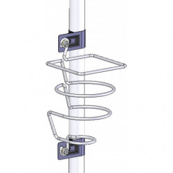 Support bouteille en fil d'acier pour poste de travail en tube Lean