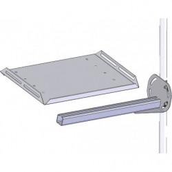 Support latéral en porte à faux pour tablette pour poste de travail en tube Lean