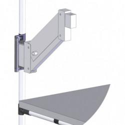 Bras articulé hauteur réglable pour poste de travail en tube Lean