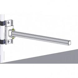 Support en profilé aluminium pour poste de travail en tube Lean