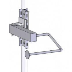 Support rouleau sur bras articulé pour poste de travail en tube Lean