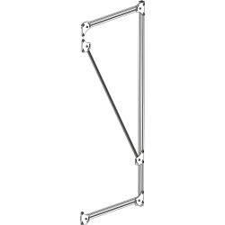Demi-échelle en profilé aluminium