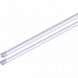 Traverse double en tube aluminium sur connecteurs