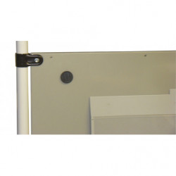 Panneau plein métallique H 400 mm pour poste de travail en tube Lean