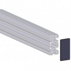 Profilé aluminium 40x80 mm