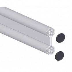 Profilé double aluminium Ø 28 mm