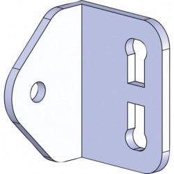 Equerre pour tube Ø 28 mm