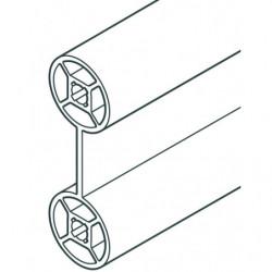 Profilé cylindrique double