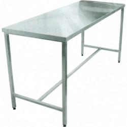 Table inox hauteur fixe