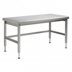 Table inox motorisée hauteur ajustable