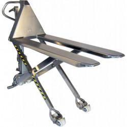 Transpalette inox haute levée manuelle