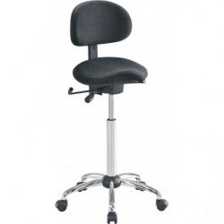 Siège assis-debout avec assise selle et dossier