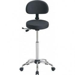 Siège assis-debout avec assise tabouret et dossier