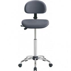 Siège assis-debout avec assise rectangle et dossier