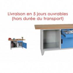 Etabli compact avec 1 tiroir, 1 porte et 1 niche