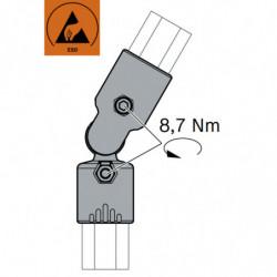 Jonction articulée 2 tubes
