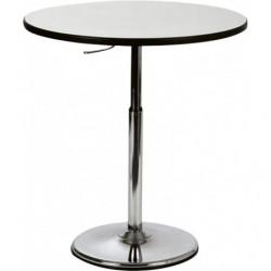 Table ronde hauteur ajustable