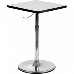 Table carrée hauteur ajustable