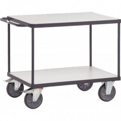 Chariot ESD 2 plateaux charge 500 ou 600 kg
