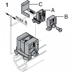 Fixation d'éléments de surface par clip