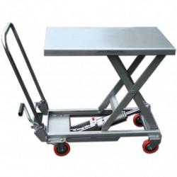 Table élévatrice aluminium simple ciseaux