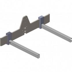 Fourche L 850 mm à écartement réglable pour gerbeur manuel