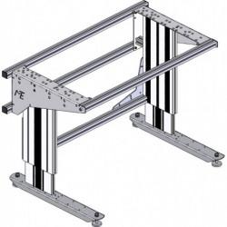 Poste de travail ergonomique hauteur réglable - Structure TPALR sans cadre profilés aluminium