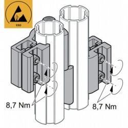 Charnière 2 tubes