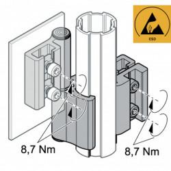 Charnière tube / élément de surface