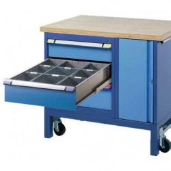 Etabli mobile 3 tiroirs 1 casier