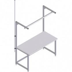 Perche pour tuyau ou câble sur profilé aluminium