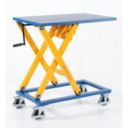 Table élévatrice simples ciseaux à manivelle