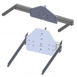 Fourche à écartement réglable pour mini gerbeur électrique