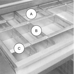 Séparateur de tiroir transversal