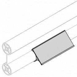Porte-étiquette autocollant pour profilé cylindrique double