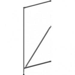 Demi-échelle Ø 28 mm en tube aluminium