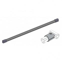 Traverse frontale en tube aluminium sur connecteurs