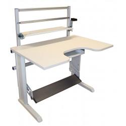 Poste de travail ergonomique hauteur réglable - Structure TPAL et cadre frontal