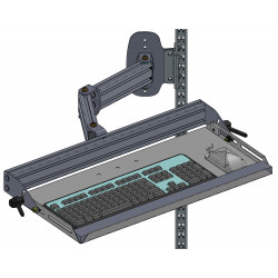 Support clavier sur bras articulé