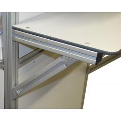 Jonction 45° entre 2 profilés aluminium